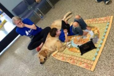 Mãe se emociona ao ver filho autista, que rejeita ser tocado, interagindo com cachorro