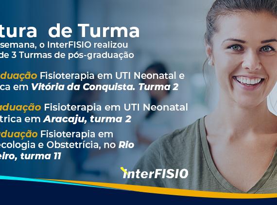 No último final de semana, o InterFISIO realizou a abertura de 3 turmas de pós-graduação